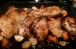 Roasted Chicken with Thyme and Persimmons