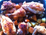 Roasted Chicken with Thyme & Persimmons