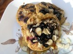 Almond Pancakes with Fresh Blueberries