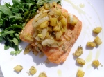 Fennel Apple Salmon Fish