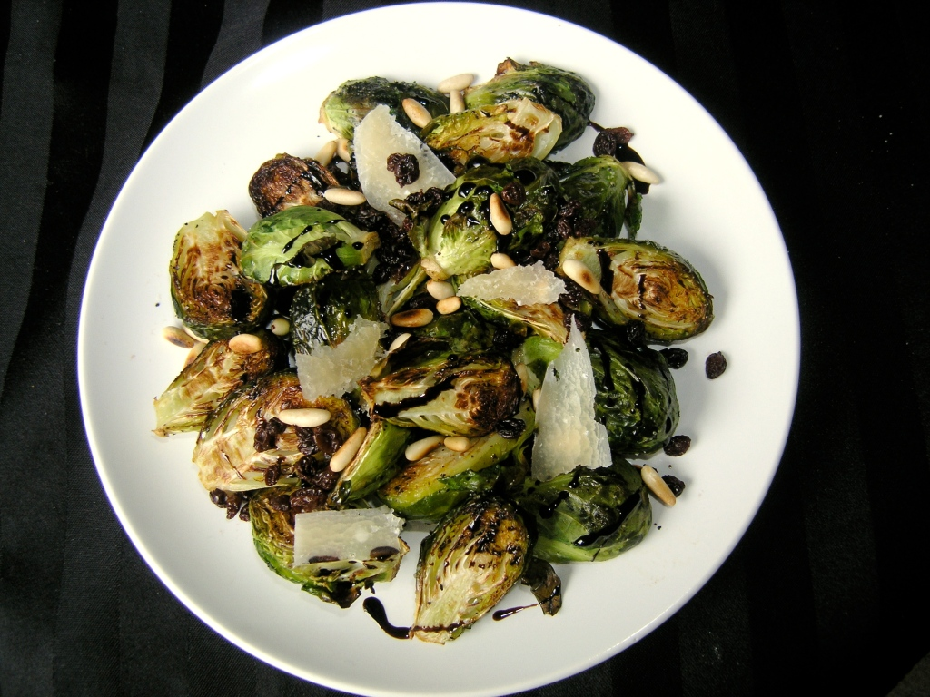 Brussels Sprouts with Toasted Pine Nuts, Raisins, and Parmesan ...