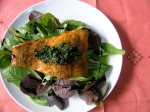 Curry Trout with Cilantro Gremolata