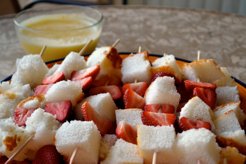 Strawberry Shortcake Kabobs Desserts