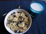 Quinoa Breakfast Cereal with Bananas, Berries and Almonds