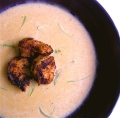 Corn Chowder with Blackened Shrimp